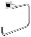 GROHE 40510001 Essentials Cube Handtuchring, Badtuchring 186mm
