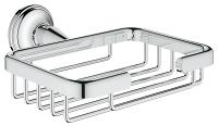 GROHE 40659001 Essentials Authentic Ablagekorb, Seifenkorb, Badablage